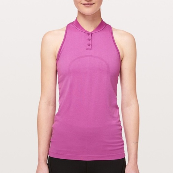 Lululemon | swiftly sleeveless polo size 10